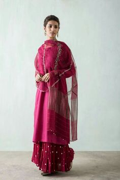 Zardozi & mukaish embroidered Suit by Good Earth