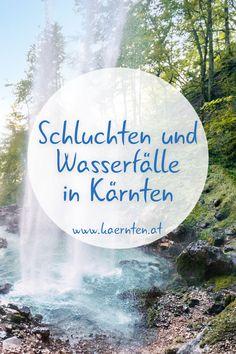Kennt ihr schon folgende Schluchten und Wasserfälle in Kärnten? Bei diesen Orten könnt ihr die Natur in Kärnten bei eurem Urlaub in Österreich besonders erleben. Austria Holidays, Road Trip, Places To Visit, Wanderlust, Journey, Explore, Country, Klagenfurt, Outdoor