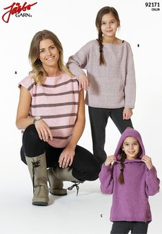 Top, hoodie and sweater in Colin – our brand new cotton and linen mix!