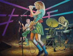 Created 2015 by Harry Ergott in Vienna, Austria. Oil on canvas, 130 x 100 cm. Dedicated to the great band Warpaint, love the sound this girlz! Great Bands, Saatchi Art, Oil On Canvas, Original Paintings, Vienna Austria, Artist, Anime, Fictional Characters, Painting Art