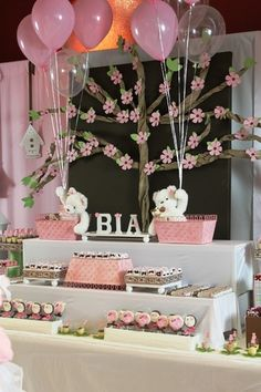 "Photo 1 of 21: Pink and brown themed party for girls / Birthday ""Sweet Pink and Brown World"" 