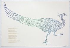 Persian Calligraphy - Iranian-born artist Jila Peacock - PEACOCK