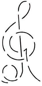 6 One Line Samba Quilting Stencil By QCI 1 Stencil