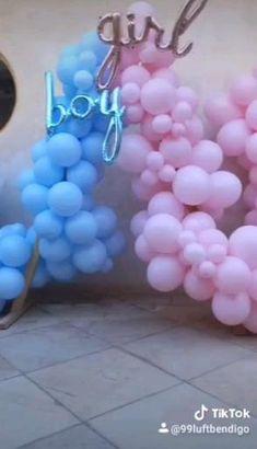 Birthday Balloon Decorations, Gender Reveal Party Decorations, Baby Gender Reveal Party, Gender Party, Diy Party Decorations, Birthday Balloons, Baby Shower Balloon Decorations, Wedding Decoration, Balloon Arch Diy