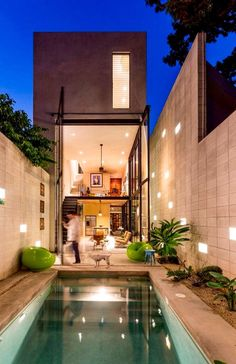 Modern narrow lot home