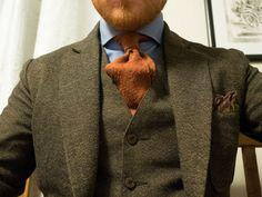 Three-piece tweed