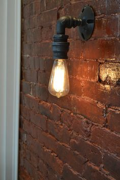 Loft Vintage Nostalgic Industrial Lustre Water Pipe Edison Wall Sconce Lamp Resturant Hotel Stair Home Modern Lighting Fixture Indoor Wall Sconces, Rustic Wall Sconces, Bathroom Wall Sconces, Candle Wall Sconces, Light Bathroom, Edison Lampe, Lampe Led, Pipe Lighting, Sconce Lighting