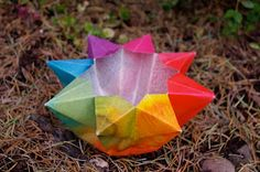 passengers on a little spaceship: video tutorial: paper star lantern waldorf crafts