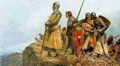 Alfonso I el batallador,rey de Aragón,observa al Ejército musulmán antes de la batalla en el 1126