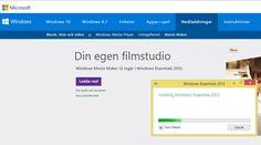 Windows Movie Maker, ingår numera i Windows Essential... Kan laddas ner här http://windows-live-movie-maker.sv.softonic.com/download eller här http://windows.microsoft.com/sv-se/windows-live/movie-maker .