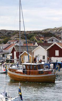 not a sail boat but love this old wooden boat. Grundsund, Bohuslän, Sweden