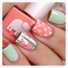 A manicure is a cosmetic elegance therapy for the finger nails and hands. A manicure could deal with just the hands, just the nails, or Best Nail Art Designs, Nail Designs Spring, Acrylic Nail Designs, Acrylic Nails, Fall Designs, Awesome Designs, Nail Designs Floral, Floral Design, Elegant Designs