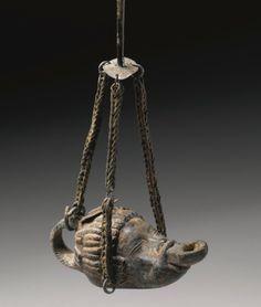 - A Roman Bronze Lamp, 1st/2nd Century A.D./tcc/