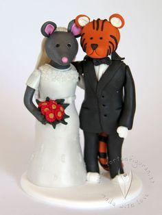 Die 38 Besten Bilder Von Tier Brautpaare Hochzeitstortenfiguren Fur