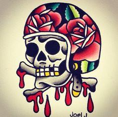 Traditional Tattoo Design, Traditional Tattoo Flash, Body Art Tattoos, Sleeve Tattoos, American Traditional Sleeve, Dessin Old School, Voodoo, Tatuaje Old School, Helmet Tattoo