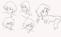 Living Lines Library: 風の谷のナウシカ / Nausicaä of the Valley of the Wind - Character Design Character Design Girl, Character Design Animation, Character Design Inspiration, Character Art, 1984 Characters, Studio Ghibli Characters, Hayao Miyazaki, Totoro, Ghibli Movies