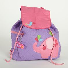 adorbs elephant backpack!  lollywollydoodle.com