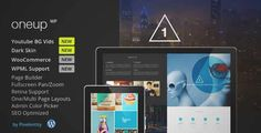Download and review of OneUp - One Page Parallax Retina WordPress Theme, one of the best Themeforest Creatives themes