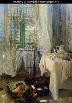 A Hotel Room - John Singer Sargent - www.johnsingersargent.org
