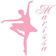 Love this for my ballerina's room -- Ballerina Silhouette Dancer Personalized Name Children Wall Art Decor Decal