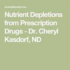 Nutrient Depletions from Prescription Drugs - Dr. Cheryl Kasdorf, ND