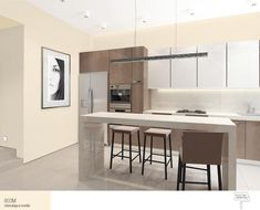 3 parts - white kitchens, modern kitchens, custom kitchens, custom wood cabinets and more. Luxury Kitchen Design, Best Kitchen Designs, Best Interior Design, Kitchen Ideas, Custom Kitchens, Luxury Kitchens, Bright Kitchens, Cool Kitchens, One Wall Kitchen