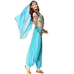 Pilot-trade Women's Belly Dance Costume 3-Pieces Beads Bells Top Harem Pants Hip Scarf Belt Light Blue Pilot-trade clothing trade co.,Ltd http://www.amazon.com/dp/B00UJD6RBE/ref=cm_sw_r_pi_dp_8KjXwb1JMB365