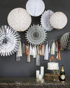 tassel garland & sequins & champagne