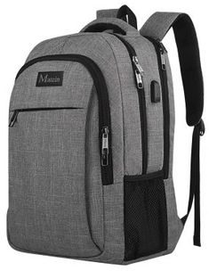 Travel Laptop Backpack,Business Anti Theft Slim Durable Laptops Backpack with USB Charging Port,Water Resistant College School Computer Bag for Women & Men Fits Inch Laptop and Notebook - Grey Backpacks for College Student Best Laptop Backpack, Computer Backpack, Computer Bags, Travel Backpack, Fashion Backpack, Laptop Bags, Macbook Laptop, Herschel Backpack, Adidas Backpack