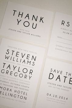 Printable Modern Wedding Suite Set Invitation by FalmariPaperCo