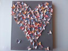 Romantic 3D Butterfly Heart / 3D Butterfly Art / by RonandNoy, $25.00
