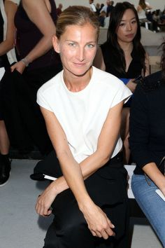 Elisabeth von Guttman attends Anthony Vaccarello show as part of the... News Photo 181747046