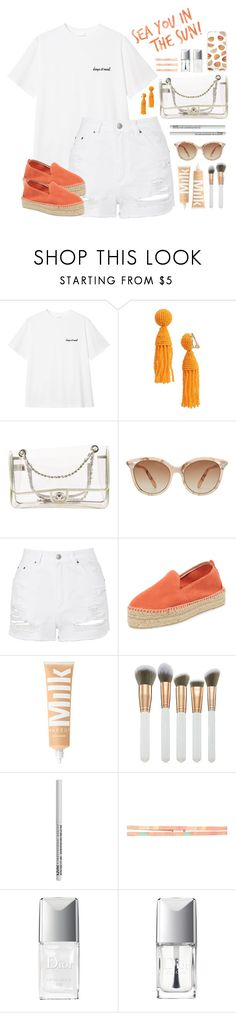 """.see u in the sun."" by vvasiliana ❤ liked on Polyvore featuring Oscar de la Renta, Chanel, Victoria Beckham, Topshop, Manebí, Spectrum, NYX, prAna, Christian Dior and Sonix"