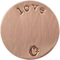 MEDIUM ROSE GOLD LOVE / ROSEGOLD PLATES | ORIGAMI OWL CUSTOM JEWELRY | STAMPED PLATE