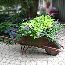 Hometalk :: This is probably one of the oldest types of garden art: broken down wa…