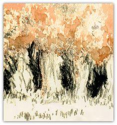 Bosque, 2000. Lápis dermatográfico e aquarela.