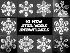 Printable Star Wars Snowflake Templates