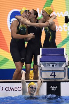 The Australian women's 4 x 100 metre freestyle relay team dominated the pool on the first night of the Rio 2016 Olympic Games.