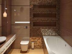Дизайн интерьера ванной в бронзовых тонах