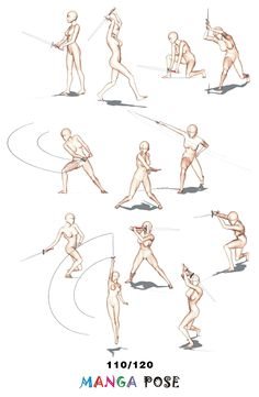 Tutorial Drawing Manga pose. Big posebook for manga anime ...