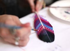 How-To: DIY Painted Feathers