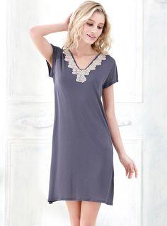 Women Embroidery Lace Flower Sexy V-Neck Short Sleeve Bamboo Fiber Nightgown http://www.amazon.com/Embroidery-Flower-V-Neck-Sleeve-Nightgown/dp/B01GE8XLHA/ref=sr_1_2?srs=8104465011&ie=UTF8&qid=1464747363&sr=8-2&keywords=women+embroidery+nightgown