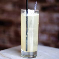 The She's Lost Control cocktail - This light, refreshing drink is made with lavender vodka, lime cordial, fresh lime, Luxardo maraschino, black pepper, rosewater and club soda.