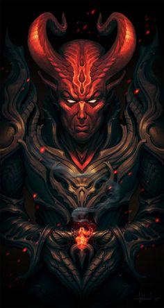 ArtStation - Prince of Darkness, Andrey Maximov Ghost Rider Wallpaper, Skull Wallpaper, Demon Art, Satanic Art, Skull Pictures, Evil Art, Skull Artwork, Angel And Devil, Arte Horror