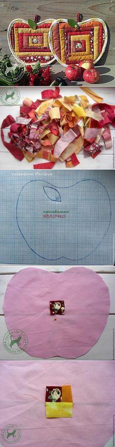 А давайте сошьём яблочки! - Ярмарка Мастеров - ручная работа, handmade | Идеи из ткани | Постила