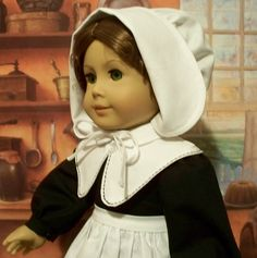 Pilgrim bonnet. Apron and Collar | by Keepersdollyduds