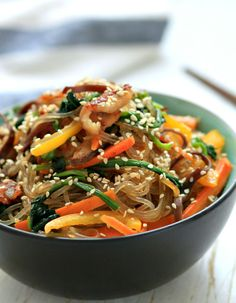 my bare cupboard: Japchae / Korean stir-fried noodles