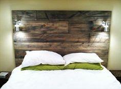 Wood Pallet Headboard | Home Design Ideas