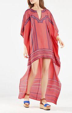 CRISTEN MEDALLION PRINT HIGH-LOW DRESS  $248.00