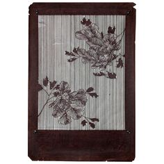 Antique Japanese Kimono Fabric Stencil Katagami | From a unique collection of antique and modern paintings and screens at http://www.1stdibs.com/furniture/asian-art-furniture/paintings-screens/